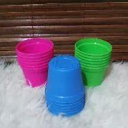Harga 1 Lusin Pot Bunga Warna Warni