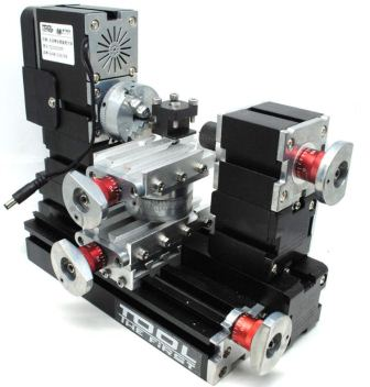 Mesin Bubut Mini Lathe Machine 12.000RPM Black