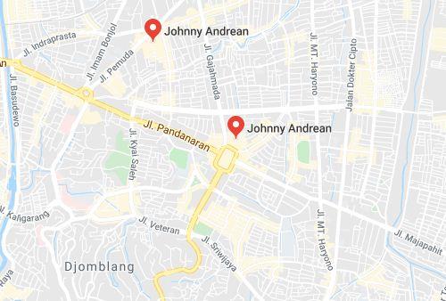 Daftar Alamat Johnny Andrean di Indonesia