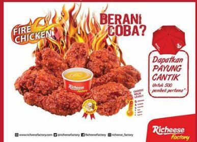 Harga Ayam Richeese mulai dari IDR 28.000