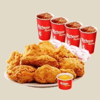 Harga Ayam Richeese paket big 8, IDR 137.000