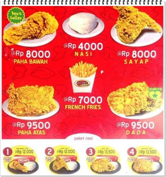 Harga Menu Ayam Hisana