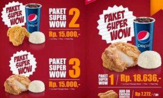 Gambar & Harga Ayam Nasi KFC Pepsi