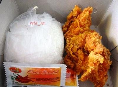 Harga ayam sabana dan nasi