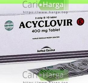 harga acyclovir 400 mg