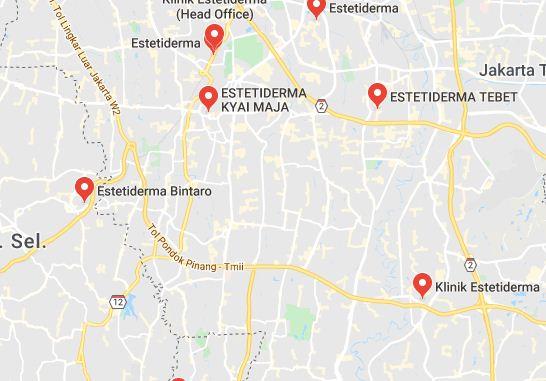 Daftar Alamat Estetiderma di Jakarta