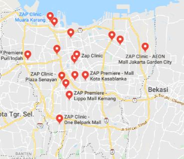Daftar Lokasi Perawatan ZAP