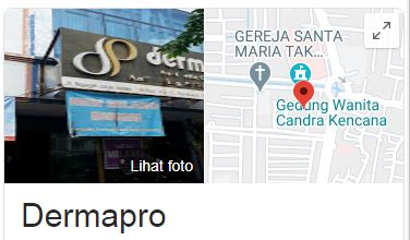 Daftar Lokasi Klinik Derma Pro