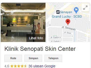 Alamat Klinik Senopati Skin Center