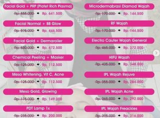 Daftar harga perawatan vanela