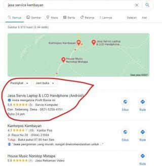 Contoh promosi google bisnis